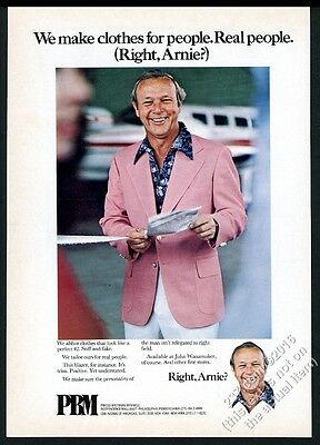 1975 Arnold Palmer photo PBM pink blazer fashion vintage print ad