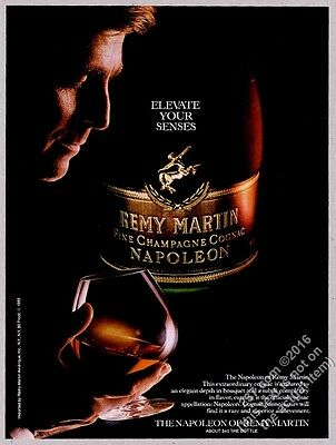 1986 Remy Martin Napoleon cognac bottle and snifter photo vintage print ad