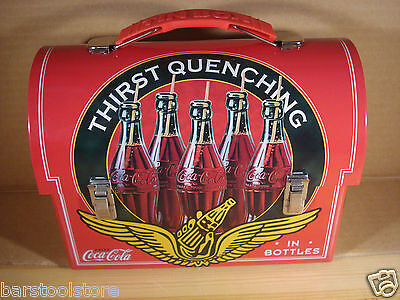 Coca-Cola (Coke) Domed Tin Tote/Carry All/Lunch Box: Thirst Quenching