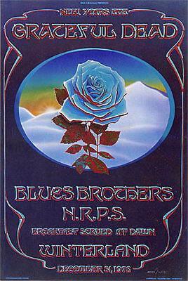 Grateful Dead Blue Rose POSTER Blues Brothers Winterland Mouse Kelly Fillmore