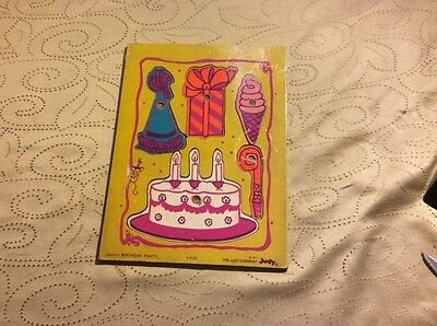 Vintage 1977 JUDY/INSTRUCTO Wood PUZZLE Birthday Party