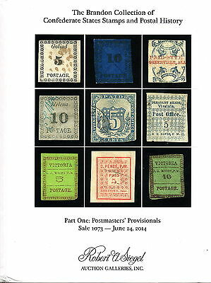 Brandon Collection Confederate States 2 catalogs Provisionals & Postal History