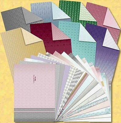 Hunkydory Deco Shimmer Luxury Card Inserts & Double Sided Paper x 24 A4 Sheets