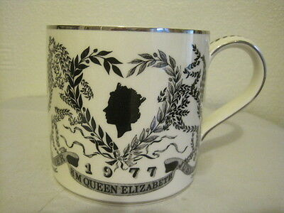 Lovely Wedgwood Queen Elizabeth  Silver Jubilee Pint Mug, By Richard Guyatt
