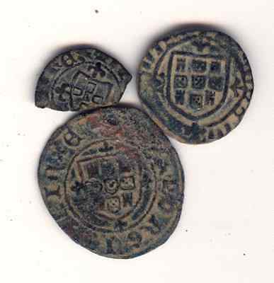 Cincin 19.Nice lot 3 Coins Portugal Medieval ,to Identify