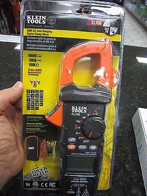 Brand New!! Klein 600A Ac Auto Ranging Digital Clamp Meter Mod#cl700 Free Ship!!