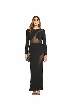TFNC Assia Maxi Dress in Black Size 12