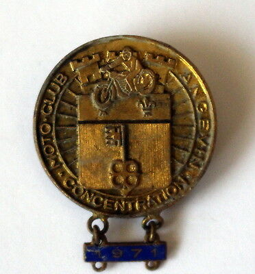 Médaille concentration moto club Angevin 1971