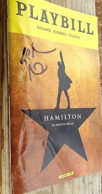 Hamilton playbill Signed By Lin-Manuel Oct 2016 Little Flaw