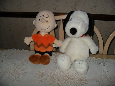 Kohls Cares Peanuts Gang SNOOPY & CHARLIE BROWN Plush Stuffed Animals