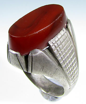Rare Vintage / Antique Ring With Large Carnelian Stonel -Wearable - Id157