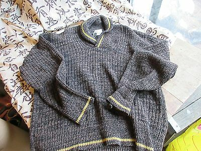 Vintage 50's 60's Shawl Collar Lambs wool Sweater.Mans M/L. Medium/Large