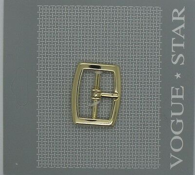 Vogue Star Buckle, Gold Tone 28mm x 24mm To Fit 22mm Strap
