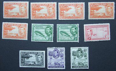 British Commonwealth - Cayman Islands - Selection of m/m stamps