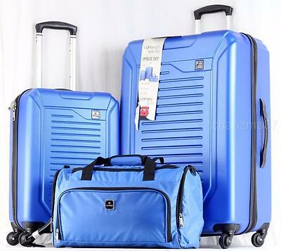 Tag Vector  3 Piece Lightweight Hardside Spinner Luggage Set Blue