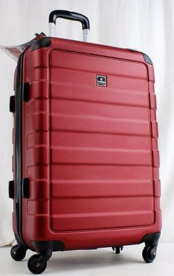 "Tag Matrix 24"" Lightweight Hard Side Spinner Suitcase Red"