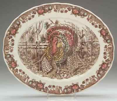 """Johnson Brothers HIS MAJESTY 15 1/2"""" Oval Serving Platter 6455754"""