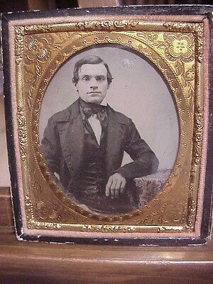 pre-CIVIL WAR AMBRO US NAVY CHIEF PETTY OFFICER METZ...Crystal Clear!