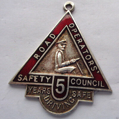 Road Operators Safty Council 5 Years Safe Driving Medallion