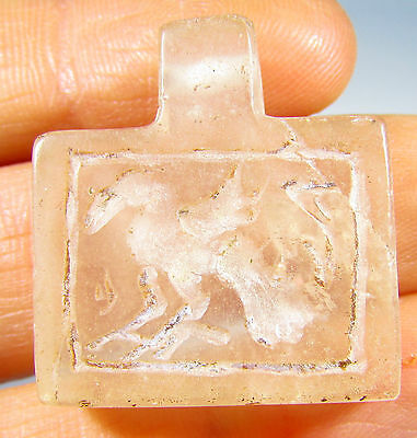 Superb Near Eastern Crystal Pendant Decorated With An Eagle Motif - Id117
