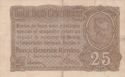 25 Bani From 1917 Romania  German Occupation!!pick-M1!!vf- Fine Banknote