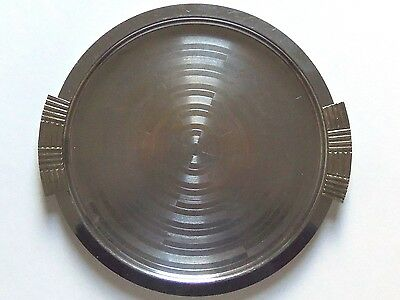 Chase Co USA small chrome Art Deco tray geometric 1930s Walter von Nessen nr
