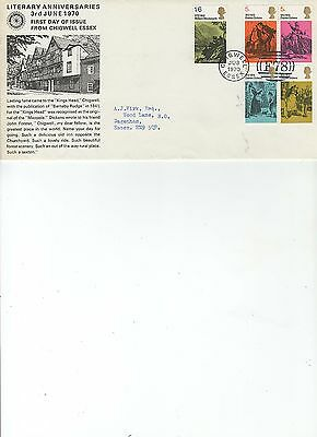1970  Literary - Chigwell Essex - Rotary Official Cover
