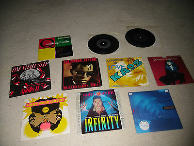 "Collection of 10 Old Skool House 7"" vinyl Quadrophonia Jolly Roger D Mob Kaos"