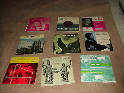 "Collection of 9 Classical 7"" vinyl EPs HMV Columbia Beethoven Sargent Susskind"