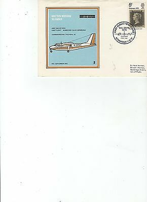 1970  PHILYMPIA - 1st FLIGHT ISLE of WIGHT to CALNE - BEMBRIDGE - OFFICIAL