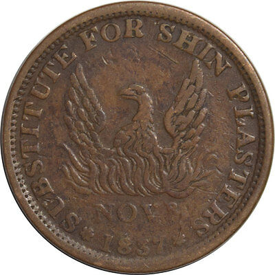 1837 Hard Times Token - Decent Example W/minor Issue, Strong Details!