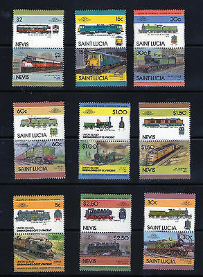"""Locomotive"" stamps.   M.N.H. Joined Pairs.      49p ask."