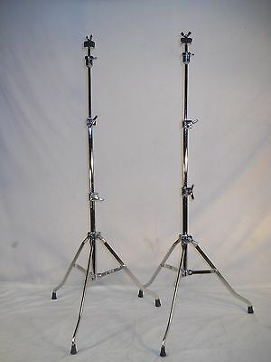 2 Absolutely Stunning Vintage 1969 Rogers Swivomatic # 48-0509 Cymbal Stands
