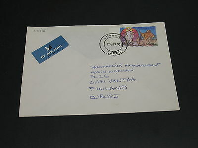 Zambia 1993 airmail cover to Finland *23785