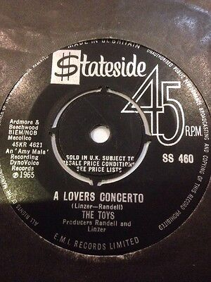 """* THE TOYS - A Lovers Concerto 45 Record 7"""" single 1965 SS460"""