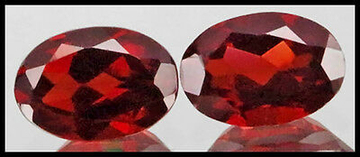 Bargain Sale!!! Stunning Pair Eye Clean Rich Red Mosambique Garnet Oval