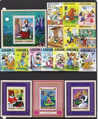 *** DISNEY *** & Other Cartoon Stamps & Deluxe Mini-Sheets = Sets - Fairy Tales