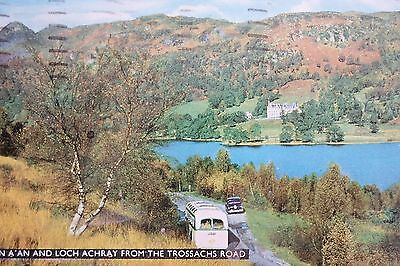 BEN A'AN AND LOCH ACHRAY FROM THE TROSSACHS ROAD 1960 Vintage Postcard