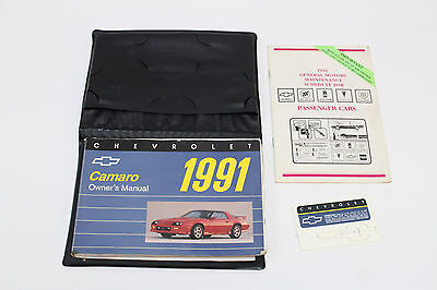 1991 Chevrolet Camaro Owners Manual w/ Leather Case & Extra Booklets Used OEM