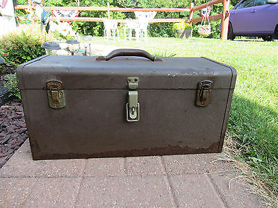 """Vintage """"KENNEDY K-20"""" MACHINISTS TOOL BOX/CHEST with TRAY"""