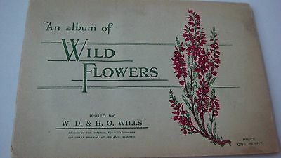 Wild Flowers 1St  Series Vintage  Wills  Part Full Album With 44/50 Cards  G- Vg
