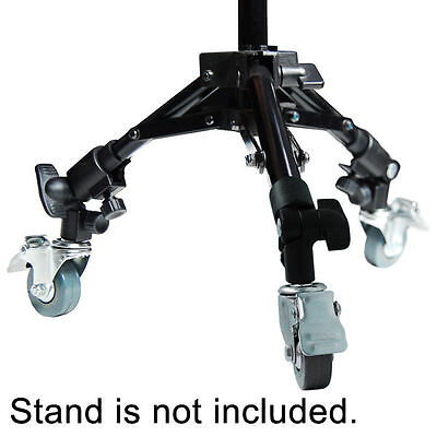 "Lusana Studio Photography Tripod Easy Swivel Caster 2"" Wheel Light Stands Boom"