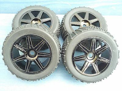 Nitro 1/8 Rc Truggy Hpi Trophy 4.6 Set Of Wheels New