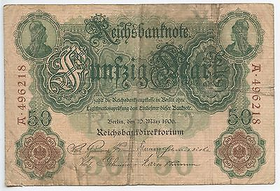 GB215 - Banknote Deutsches Reich 50 Mark 1906 Pick#26 Berlin