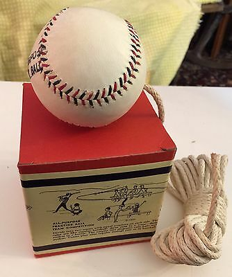 Vintage Baseball On-A-Rope All Purpose Practice Hitting Ball NEW IN BOX