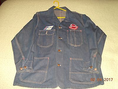 VINTAGE ORIGINAL AUTHORIZED AVANTI SERVICE DENIM SHOP JACKET, Sz. L