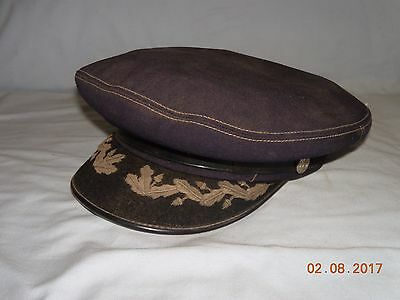 Vintage Midway Cap Co. Fire Department Dress Hat Size 7 1/8