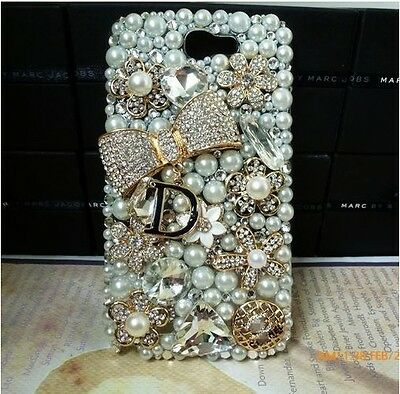 3D Bling Gold Bow Crystal Diamond Case Cover Skin  For Samsung Galaxy S5 HOT #~1