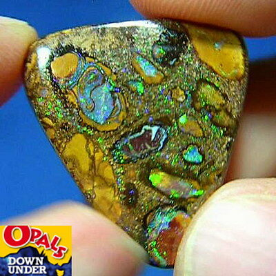 Lovely 32ct Natural Australian Solid Yowah Boulder Opal * See Video Clip