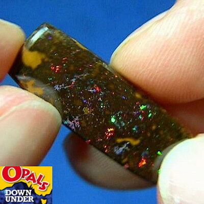 Flickering Reds * 11ct Natural Australian Solid Koroit Boulder Opal * See Video